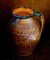 Polish jar. Oil on board, 17 x 14 cm. 2003.  » Click to zoom ->